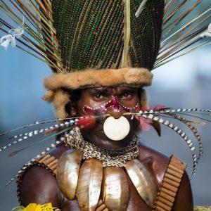 Papou tribu xx, Papouasie Nouvelle-Guinée.